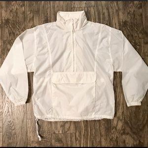Woolrich Women's Rain Jacket Anorak White Size M